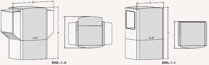 Luft-/Wasser-Wärmepumpe - BWL - Technikzeichnung