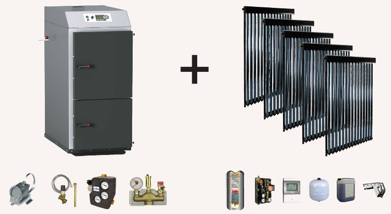 Neu von Fördetherm: Kombipaket Solar & Holzvergaser