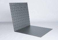 Fußbodenheizung Tackersystem Hohlkammer-Verlegeplatte