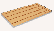 Fussbodenheizung Trockenbausystem TBE Holzfaser 30-16 Verlegeplatte