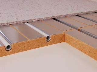 Fußbodenheizung Trockenbausystem-Holzfaser