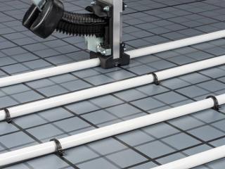 Fußbodenheizung Tackersystem Verlegung