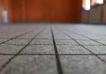 Fördetherm Fussbodenheizung im Klett-System - Kunstfaserdeckschicht