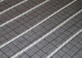 Fördetherm Fussbodenheizung im Klett-System - Rohr Weiß von oben