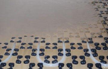 Fußbodenheizung Dünnschichtsystem Vergussmasse