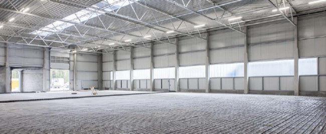 Fußbodenheizung Industrieflächenheizung - Hallenansicht