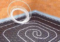 Fußbodenheizung Noppenplattensystem Aufbauhöhe
