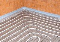 Fußbodenheizung Tackersystem Aufbauhöhe