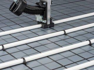 Fußbodenheizung Tackersystem Verlegung mit Tackergerät